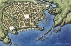 Free Fantasy City Map - from a cool mapmaking website with some great resources