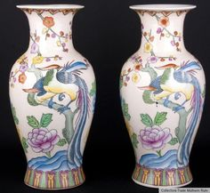 China 20. Jh. Vasen - A Pair Of Chinese Baluster Vases -  Vasi Cinesi - Chinoise