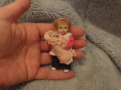Miniature handmade MINI GIRL CHILD & TINY TOY BABY ooak DOLLHOUSE  DOLL HOUSE