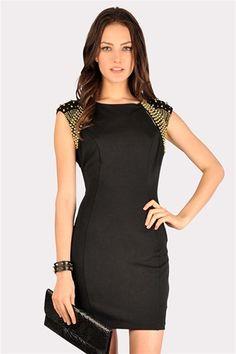 Charmer Bead Dress - Black