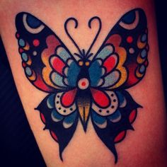 "christianotto: "" Schmetterling (at Burnout Ink Tattoo Parlour, Palma, Spain) """