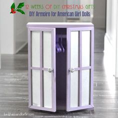 DIY Doll Clothes Closet / Armoire
