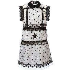 Giamba Embellished Short Dress ($2,490) ❤ liked on Polyvore featuring dresses, giamba, embellished cocktail dress, embellished short dresses, pink and black dress and embellished mini dress