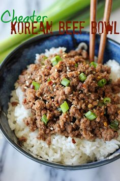 Korean Beef Bowl - Tastes just like Korean BBQ and is on your dinner table in just 15 minutes!