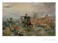 The Duke of Wellington at Waterloo Giclee Print by Robert Alexander Hillingford - AllPosters.co.uk