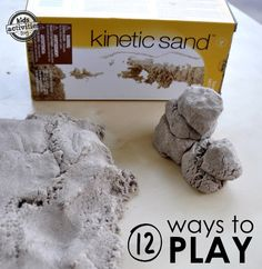 kinetic sand - It's super fun to play with.  One of our kids favorite things!