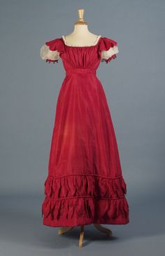 Evening dress, 1820's From the Kent State University Museum