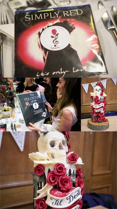 records at wedding favours at islington assembly hall