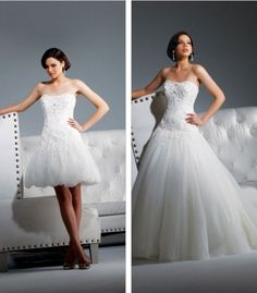 latest amazing 2 in 1 wedding dresses custom made