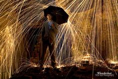Wire Wool, long exposure, fire, photography, suit