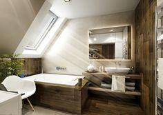 Vizualizace koupelny se šikminou www.liniedesign.cz