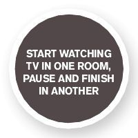 With Dish Hopper, you can start watching in one room, pause and finish in another!