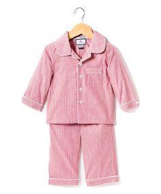 Loving this Red Seersucker Pajama Set - Infant & Kids on #zulily! #zulilyfinds