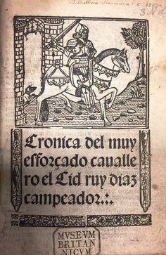 Title-page of Cronica del muy esforçado cauallero el Cid ruy diaz campeador ([Seville], 1541). C.39.g.5