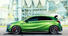 All new Mercedes A45 AMG green