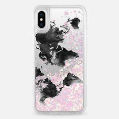 Casetify iPhone X Liquid Glitter Case - Travel case by Priyanka Chanda