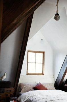 Attic bedroom keep the dark trim ?
