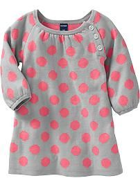Patterned Sweater Dresses for Baby