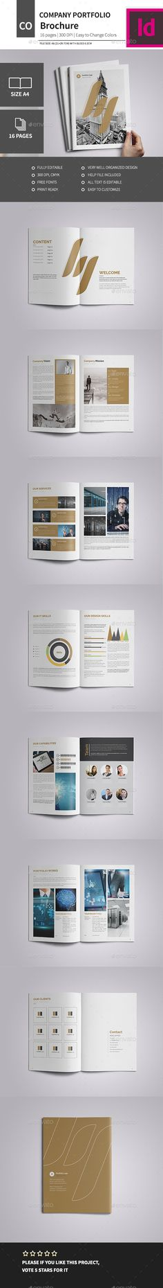 A4 Corporate Business Brochure 2016Easy to edit, you can change golden accent color throughout the whole document at once, paragr