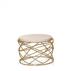 Rosebush Side Table by Ginger & Jagger. Eternalized rosebush branches, molded in brass casting, give a perennial feel to this elegant table. The bottom structure is assembled by hand by artisans, while the minimalistic top offers a soothing and quiet balance to this piece. For more information, finish options or prices please contact us at www.momentumluxe.com