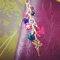 Planner charm dangle drops Disney Tinkerbell by DanglesbyDesign, $4.25