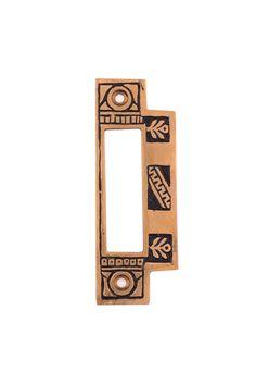 Oriental Mortise Lock Strike Plates #13XX By Charleston Hardware Company.