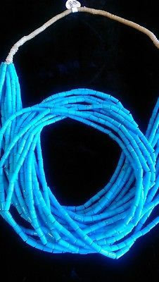 Native-American-Santo-Domingo-10-strands-Sleeping-Beauty-blue-tube-Turquoise