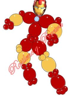 Projeto de balões Homem de ferro Balloon Shapes, Balloon Columns, Balloon Arch, Balloon Decorations Party, School Decorations, Baby Shower Decorations, Iron Man Party, Iron Man Birthday, Transformer Birthday
