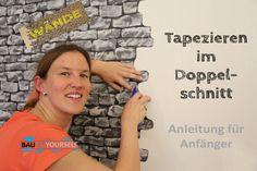 Tapezieren Doppelschnitt Wandgestaltung Wand Wände Doppelnahtschnitt Ste...