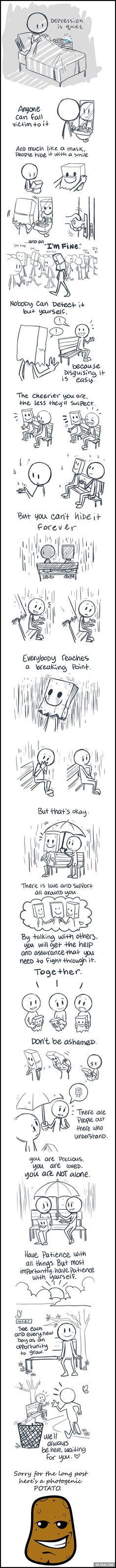 Depression Is Quiet. Anyone Can Fall Victim To It. - 9GAG