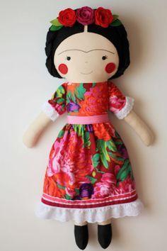 frida kahlo kid doll - Google Search