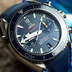 Omega Seamaster Planet Ocean Chrono and LiquidMetal diving scale