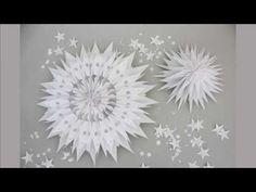 DIY: große Weihnachtssterne aus Brotpapiertüten basteln [How to] Deko Kitchen - YouTube