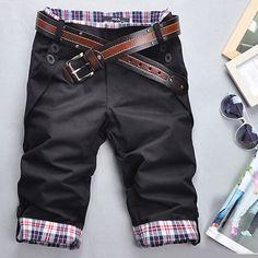 Free Shipping 2016 Fashion Brand Men's Casual Short Pants Summer Plaid Shorts Fitness Cargo Polo Shorts Pantalones Cortos M-XXXL