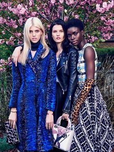 "Devon Windsor, Jeneil Williams, and Kaitlin Aas in ""Arada Kalanlar"" for Vogue Turkey"