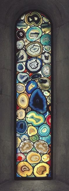 Sigmar polke window entirely made with agate stone, no glass has been used....