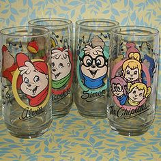 Alvin and the Chipmunks Glasses- my awesome hubby got me a set of these before we were married. Alvin And Chipmunks Movie, Cartoon Glasses, The Chipettes, Kickin It Old School, Vintage Cups, Vintage Tv, Love Is Everything, Cartoon Tv Shows, Oldies But Goodies