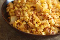 Chipotle Corn and Caramelized Onion Potato Salad.
