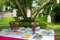 Wedding buffet in the garden