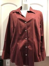 Banana Republic Women's Career Shirt Stretch Fitted Plus Formal and Casual XL