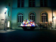 Plastic Garbage Guarding The Museum by Luzinterruptus
