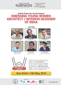 Last chance for YOUNG WOMEN ARCHITECTS & DESIGNERS of India to enter their projects for the WADe Emerging Women Architect/ Interior Designer Award. Submit 3 projects. For submission guidelines, contact WADe India at hellowadeindia@gmail.com. #WADeIndia #WADeWomenArchitectAward #WADeAwardsIndia #WADeWomenDesignerAward