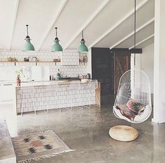 Concrete floors and concrete floor ideas from domino magazine.