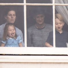 Princess Charlotte Changed Hair Style at Trooping the Colour | PEOPLE.com Queen Elizabeth Birthday, Visit Northern Ireland, Plait Braid, Airbrush Foundation, Mom Show, Pulled Back Hairstyles, Double Braid, Two Braids, Hair Pulling