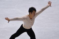 Daisuke Takahashi Photos Photos - Daisuke  Takahashi of Japan competes in the men's free program during day two of ISU Grand Prix of Figure Skating 2013/2014 NHK Trophy at Yoyogi National Gymnasium on November 9, 2013 in Tokyo, Japan. - ISU Grand Prix of Figure Skating  2013/2014 NHK Trophy - Day 2