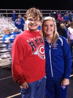Me and Sydney James at the Grant County High game