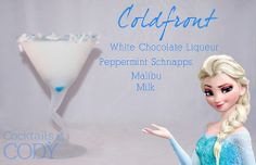 Cocktails by Cody ~ Coldfront White Chocolate Liqueur Peppermint Schnappes Malibu Milk