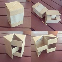 New pop out box (better name?) 3 masu boxes 1 hinge box & 1 outer cover  #origami #paperkawaii #box #origamibox #crafts #paper