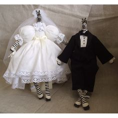 Zebra Bride & Groom