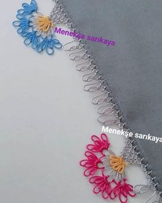 Crewel Embroidery, Baby Knitting Patterns, Needlework, Diy And Crafts, Crochet Necklace, Flowers, Instagram, Craft, Embroidery
